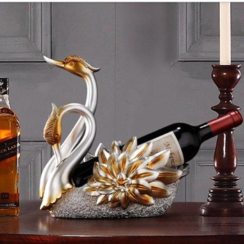 2020 swan wine rack decoration, home-style living room European-style crafts decoration, wine cabinet decorations, wedding gifts