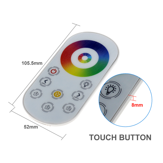 DC5V-24V Wireless RF Mini LED Controller Touch Remote for DIM RGB RGBW RGBCCT