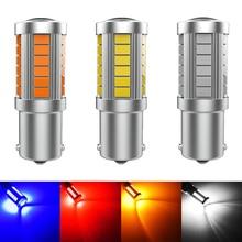 1 шт. Canbus 33SMD 1156 P21W BA15S светодиодный фсветильник заднего хода 1157 BAY15D 3156 3157 7440 T20 WY21W 7443 W21W светильник указатель поворота s