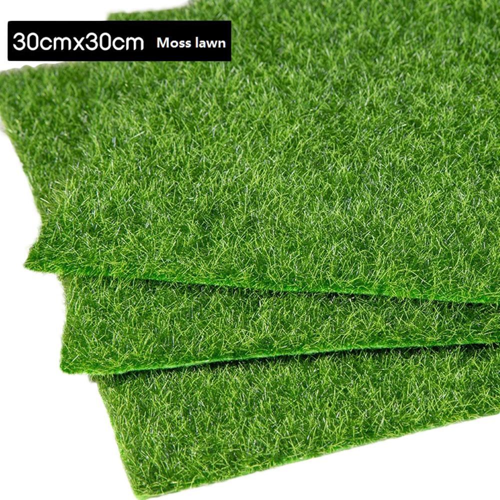 3 Size Artificial Grass Moss Carpet Home Garden Decoration Artificial Plants Lawn Fake Grass Mat Farmhouse Landscape Decor