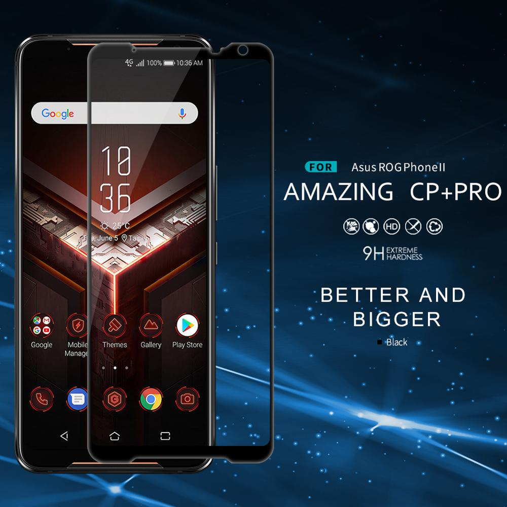 Full GlueTempered Glass For Asus ROG Phone 2 Screen Protector NILLKIN CP+ 2.5D 9H Anti Explosion Protective Film For Asus ROG 2|Phone Screen Protectors|   - title=