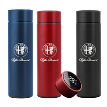 NEW 500ML smart thermos bottle for ALFA ROMEO Mito 147 Car accessories Digital temperature display stainless steel coffee mug