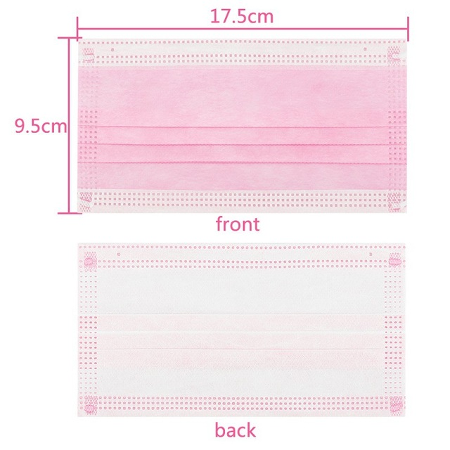 Face Masks 3 Layer Elastic Mouth Mask Anti-Flu Kids Disposable Mask Soft Breathable PM2.5 Nonwoven Pink Blue White Black 3