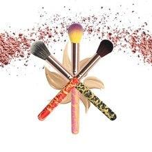 цена на Makeup Face Beauty 1Pcs Crack Powder Brush Face Blusher Contour High-gloss Brush Contour Makeup Brush Cosmetic Tool