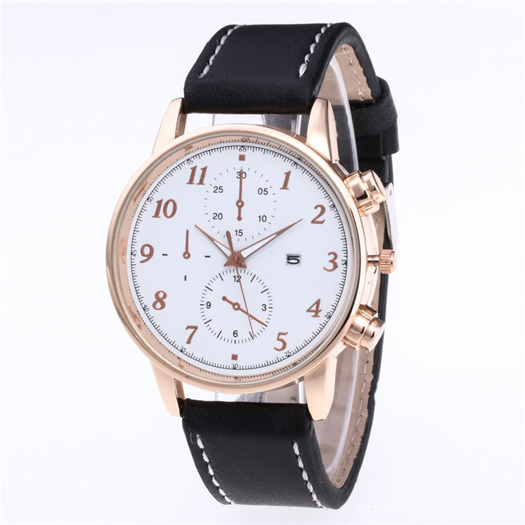 Beautifully Minimalist Fashion Belt Watch More Color Face Dial Pointer Watches Personality Scale With Calendar Watches
