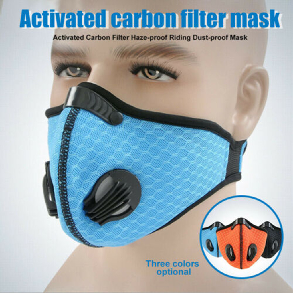 Sports Face Running Training Cycling Cycle Dust Filter Reusable Anti-pollution Activated Carbon Filter Breathing Shipping To USA