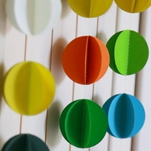 1pc 3M Circle Dots Hanging Bunting Banner Paper Garland Wedding Birthday Baby Shower Party
