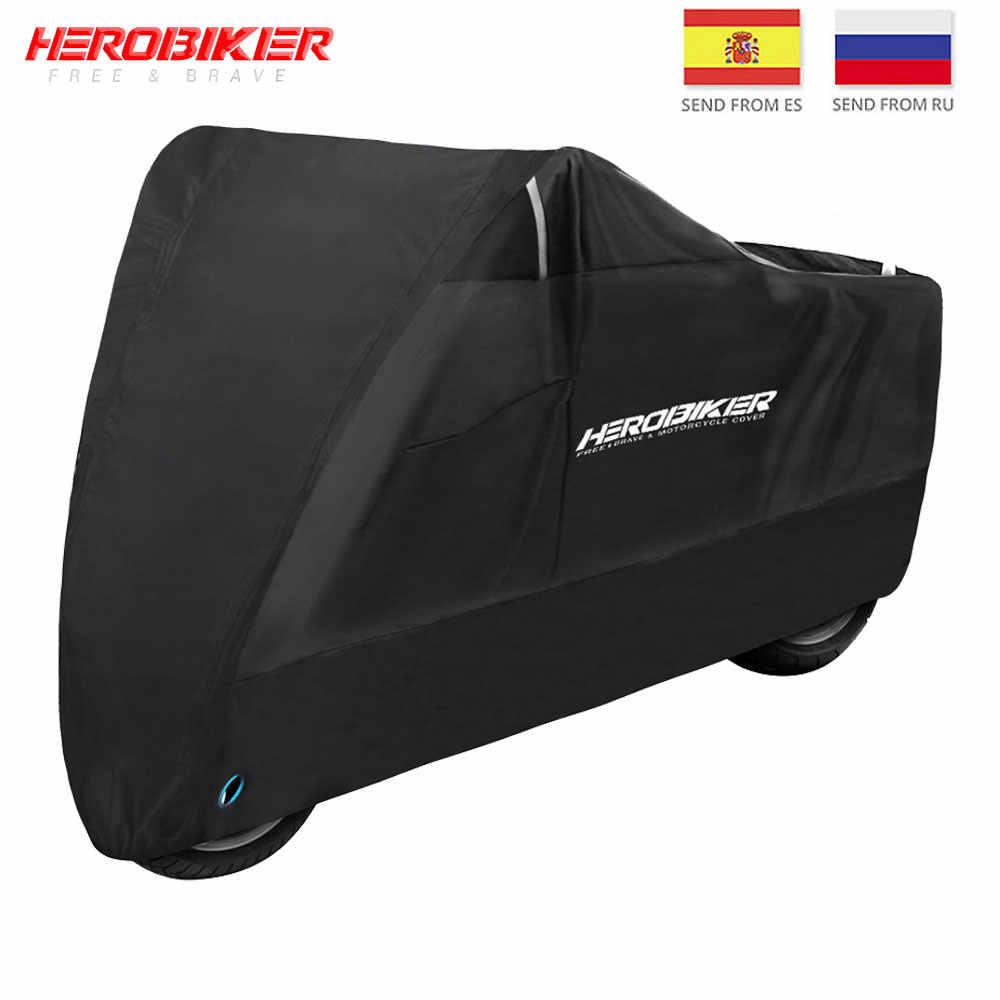 Naliovker Red Black Motorcycle Motorbike Street Bike Scooter Waterproof Water Resistent Rain UV Protective Breathable Cover Outdoor Indoor storage bag XL//245x105x125cm