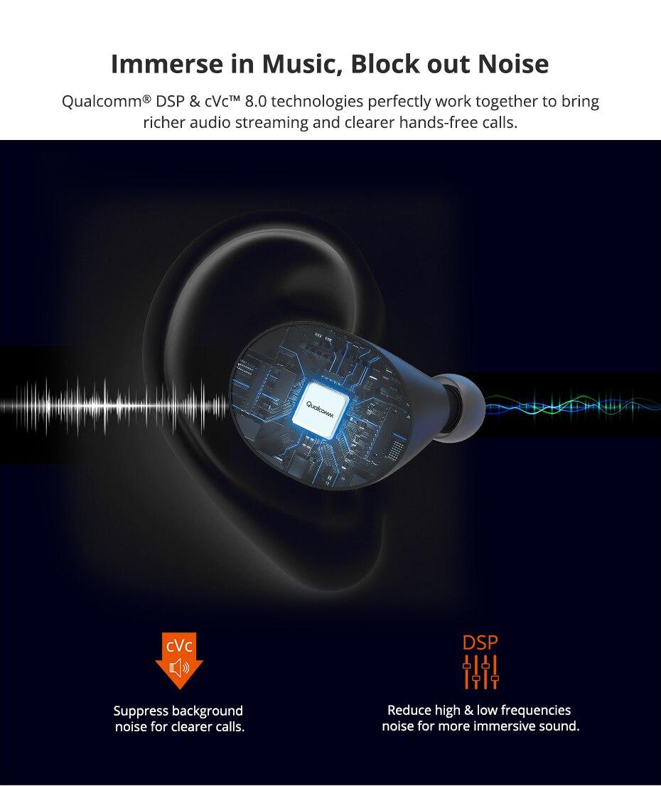 Tronsmart Spunky Beat Bluetooth TWS Earphone APTX Wireless Earbuds with QualcommChip, CVC 8.0, Touch Control, Voice Assistant (4)