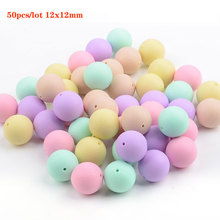 50Pcs Round Silicone Beads 12mm Teething Beads For Jewelry Making Baby