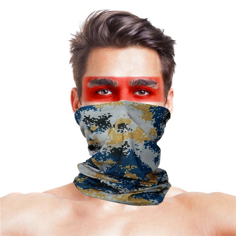 Армейская цифровая рыболовная Бандана с изображением масок для лица из полиэстера ветрозащитная Зимняя Маска для головы и шеи для лица одежда для рыбалки - Цвет: 015