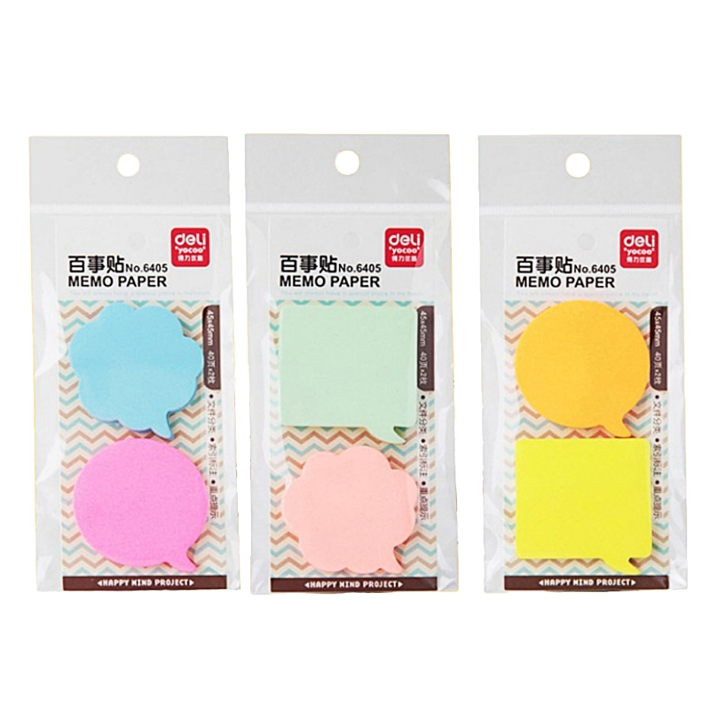80 Sheets Self Adhesive Memo Pad Paper Sticky Bookmark Office School Supplies