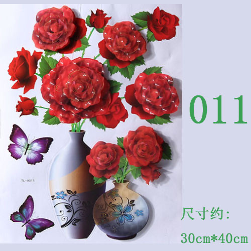 3D Three-dimensional Wall Stickers Wallpaper Self-adhesive Simulation Flowers TV Background Wall Decorations