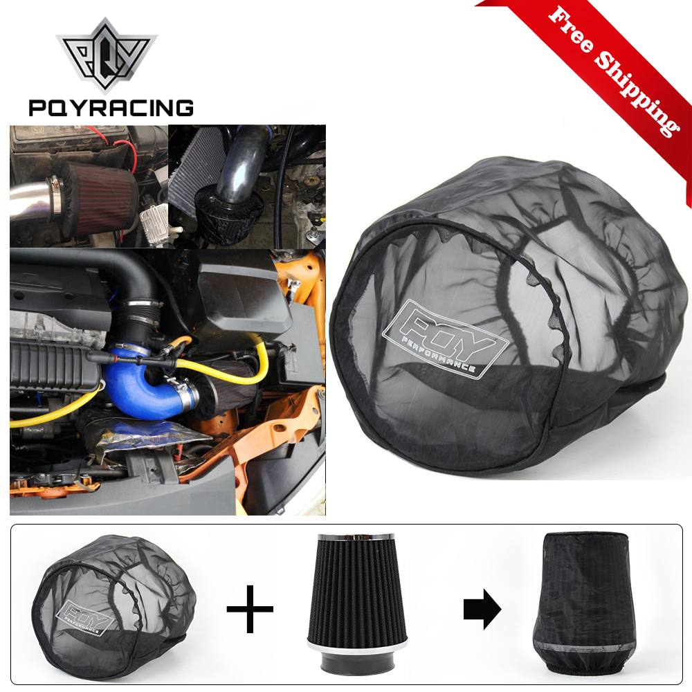 Universal Air Filter Protective Cover Waterproof Oilproof Dustproof For Cylindrical High Flow Air Intake Filters Black