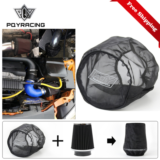 car Air Filter Universal Protective Cover Waterproof Oilproof Dustproof for Cylindrical High Flow Air Intake Filters Black