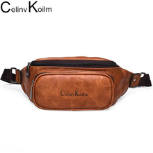 Celinv Koilm Waist Pack Bag Fanny Pack for Men Unisex Leather Hip Bum Bag for Outdoors Workout Fashion Running Hiking Cycling