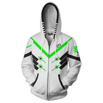 Anime Game Hoodie Sweatshirt 3D Printing Overwatches DVA DJ Cosplay Costume Women Men Couple Hooded Jacket Top Clothing 4