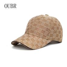 OUBR New fashion high quality ladies baseball cap simple couple sunhat hip hop dad hat mens trend
