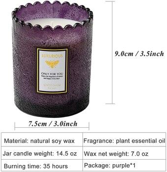 Lavender Amber Scented Jar Candles  6