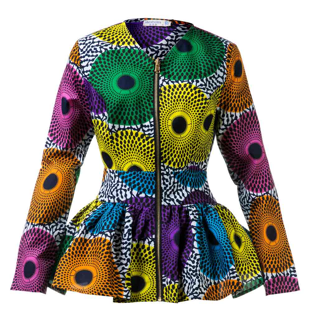 African Clothes For Women Fashion Coat Ankara Print Top Fashion Slim Top African Traditional Clothing Dashiki Jacket For Women