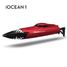Barco rc 2.4g cheio de freqüência alta velocidade tubarão barco 150 metros distância controle remoto crianças brinquedo jogo de controle remoto barco