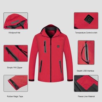 флисовая куртка с подогревом | 2018 модная мужская куртка с подогревом зимнее теплое пальто с батареей термо-ветровка водонепроницаемая куртка с регулируемой температурой