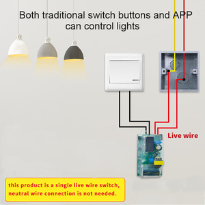 Image 3 - eWeLink Single Fire WIFI Module DIY wifi switch Timer Light Switch Remote Control Module Work With Alexa and google home