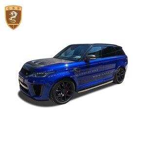 Image 4 - Чехол для переднего двигателя из настоящего углеродного волокна подходит для Land Rover Range Rover Sport SVR Style 2014 2015 2016 2017 2018 2019