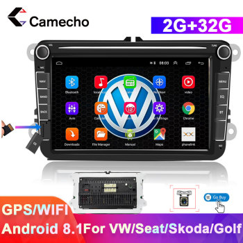 Camecho 2 din Android 8.1 Car Radios GPS For VW/Volkswagen/Golf/Passat/b7/b6/Skoda/Seat/Octavia/Polo/Tiguan Multimedia Player image