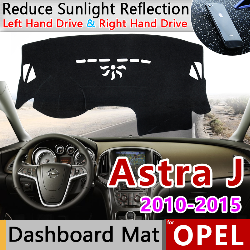 For Opel Vauxhall Holden Astra J 20102011 2012 2013 2014 2015 Anti-Slip Mat Dashboard Cover Pad Sunshade Dashmat Car Accessories