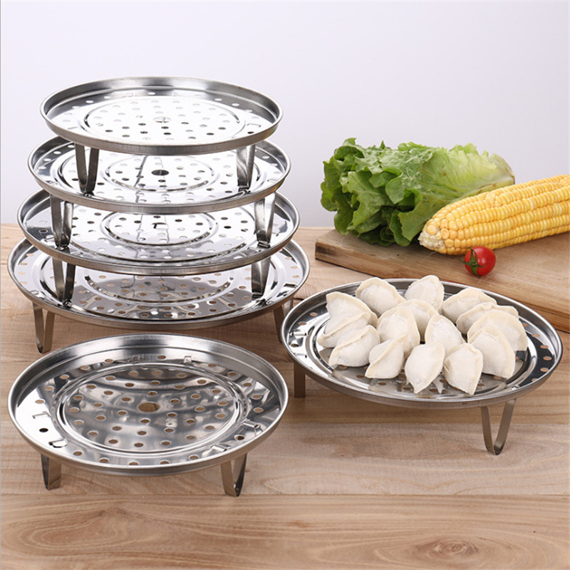 1 Pcs Stainless Steel Steamer Rack Multifunction Kitchen Steamed Buns Steamed Dish Shelf Steamer Cookware Kitchen Cooking Tool