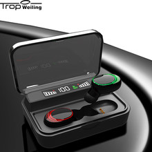 Tws Wireless Headphone Bluetooth V5.0 Sidik Jari Touch Bluetooth Earphone 3D Stereo dengan Dual MIC Earphone dan USB Power Bank(China)