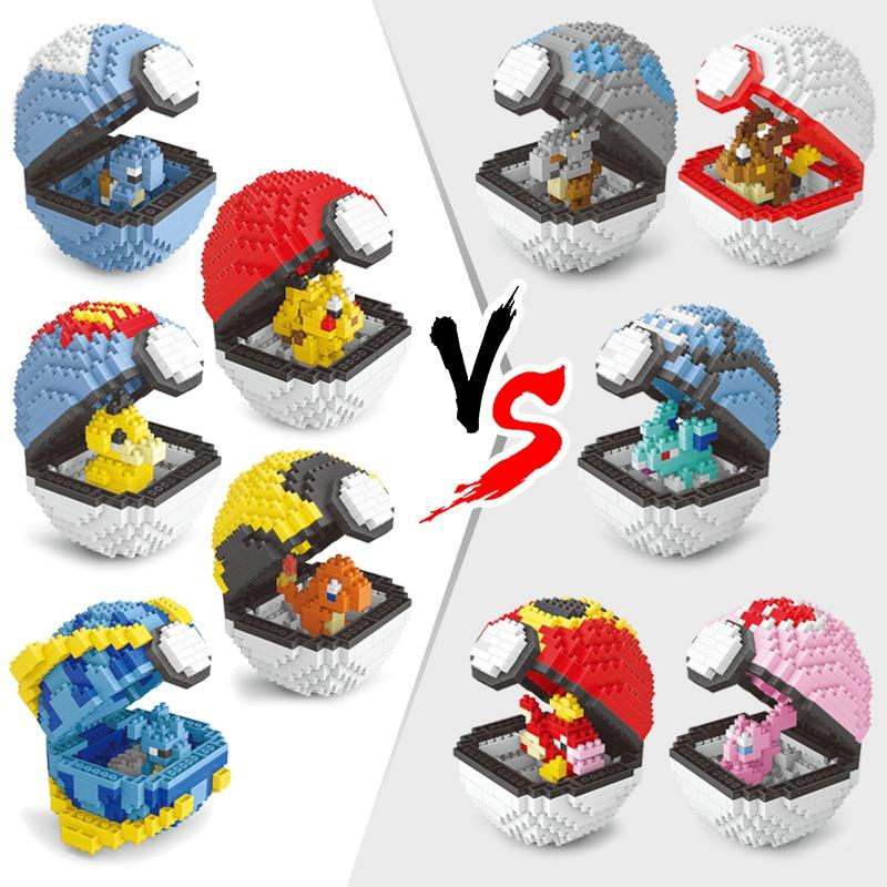 DIY Pokemon Mini Building Blocks Toys Bricks Pikachu Ball Charizard  Anime Diamond Doll Pocket Monster Children Gifts Toy 1