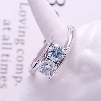 AEAW 10K white Gold 100% 1ctw Natural Moissanite Gemstone Rings for Women Handmade Rings Engagement Bride Gift Fine Jewelry