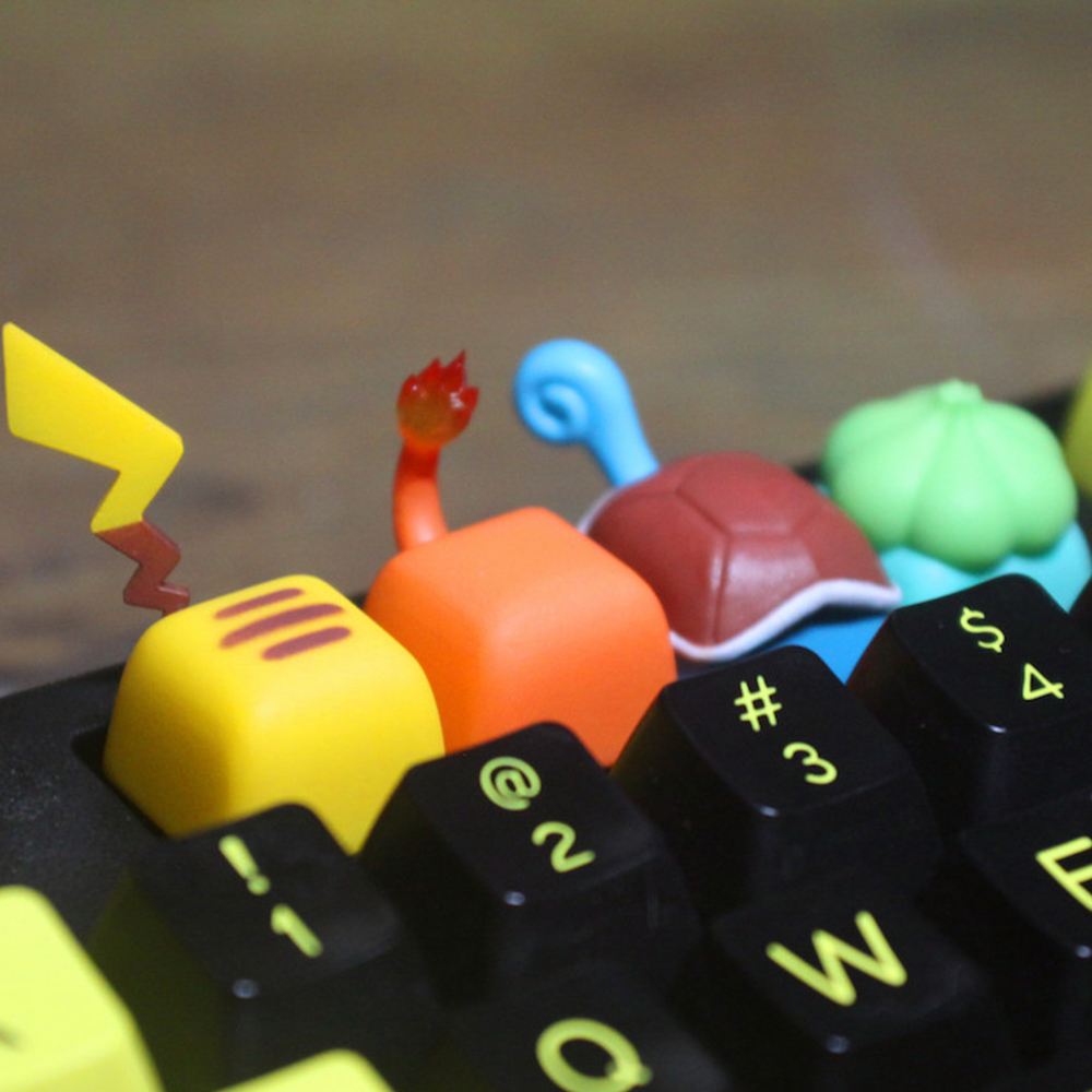 For Little Fire Dragon Frog Seed Design Resin Keycaps For Cherry Mx Switch Mechanical Gaming Keyboard Use SA R1