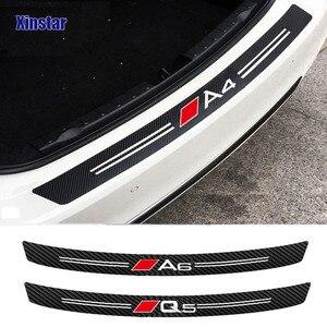 carbon fiber bumper sticker for audi A1 A3 A4 A5 A6 A7 A8 Q1 Q3 Q5 Q7 TT B5 B6 B7 B8 B9 8P 8V 8L C6 C5 C7 4F