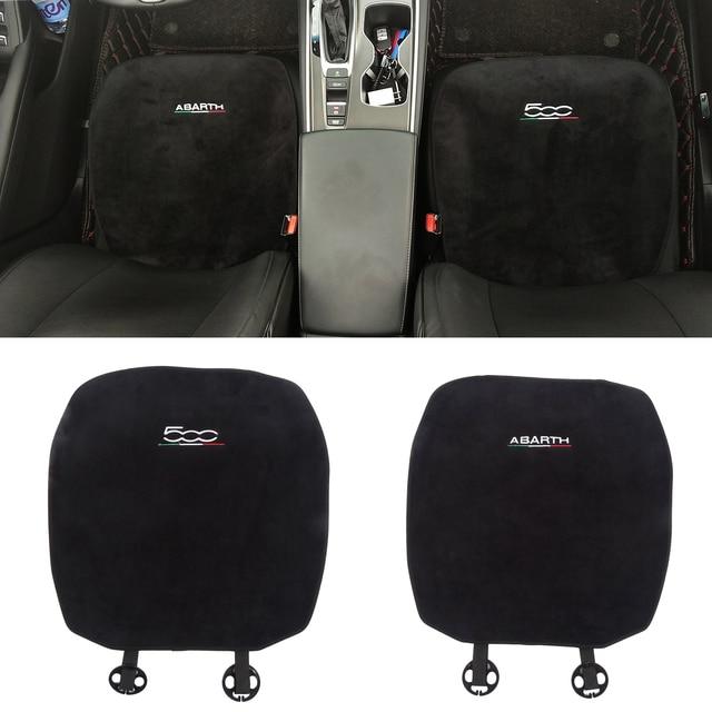 Car Soft Plush Seat Cushion Warm Winter Pad Mat Auto Interior Accessories for Fiat 500 500L Abarth 595 competizione car styling 1