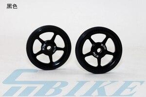 Image 4 - 1 пара легких колес для велосипеда, быстрое освещение, суперлегкие легкие колеса из алюминиевого сплава + титановые болты для Бромптона 45 г/компл.