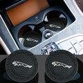 Модный автомобильный Стайлинг автомобиля силиконовые воды горки светящиеся coaster для Jaguar XF XE XJ F-Pace подходит для Jaguar XF X-Тип S-Тип F-Тип E-Pace подх...