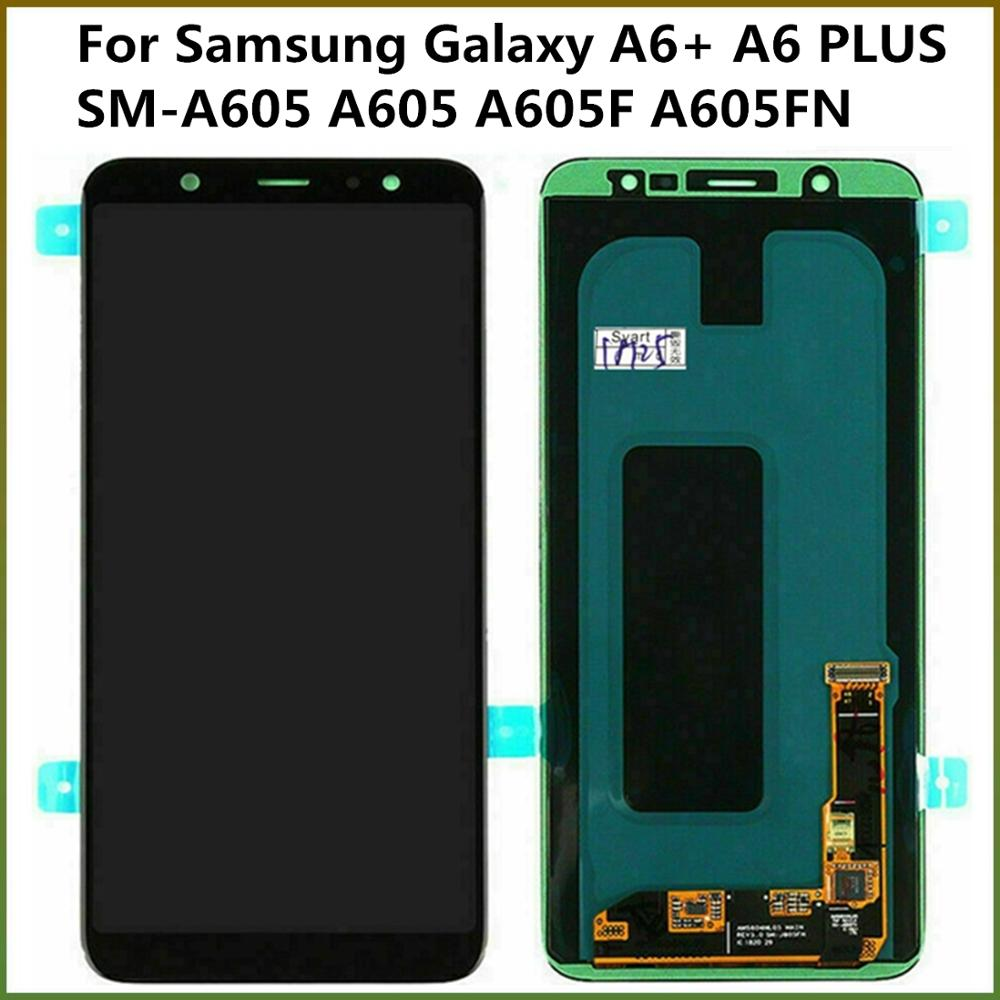 100% Tested TFT LCD <font><b>Display</b></font> Screen For <font><b>Samsung</b></font> <font><b>Galaxy</b></font> <font><b>A6</b></font>+ <font><b>A6</b></font> PLUS SM-A605 A605 A605F A605FN LCD Touch Screen Digitizer Assembly image