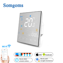WiFi Smart Thermostat Temperature Controller for Water/Electric floor Heating Water/Gas Boiler Works with Alexa Google Home цена и фото