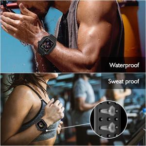 Image 5 - 防水頑丈なケースのためのシリコンバンド時計シリーズ5 4 3 2 1のためのiwatch 38/42/40/44ミリメートルカメラストラップ画面プロテクターカバー