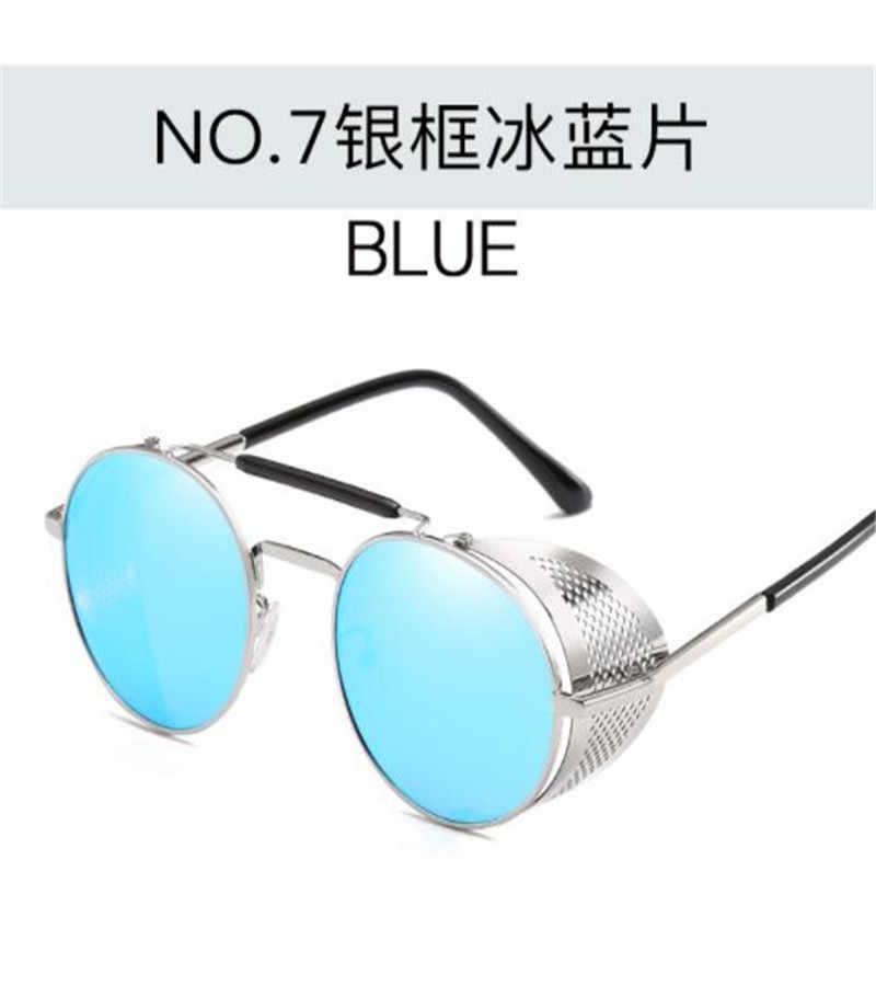 جديد Steampunk من نظارات شخصية الزجاج الأمامي النظارات الشمسية كوس الرجعية اللون فيلم عاكسة الضفدع مرآة الكبار فاسق نظارات