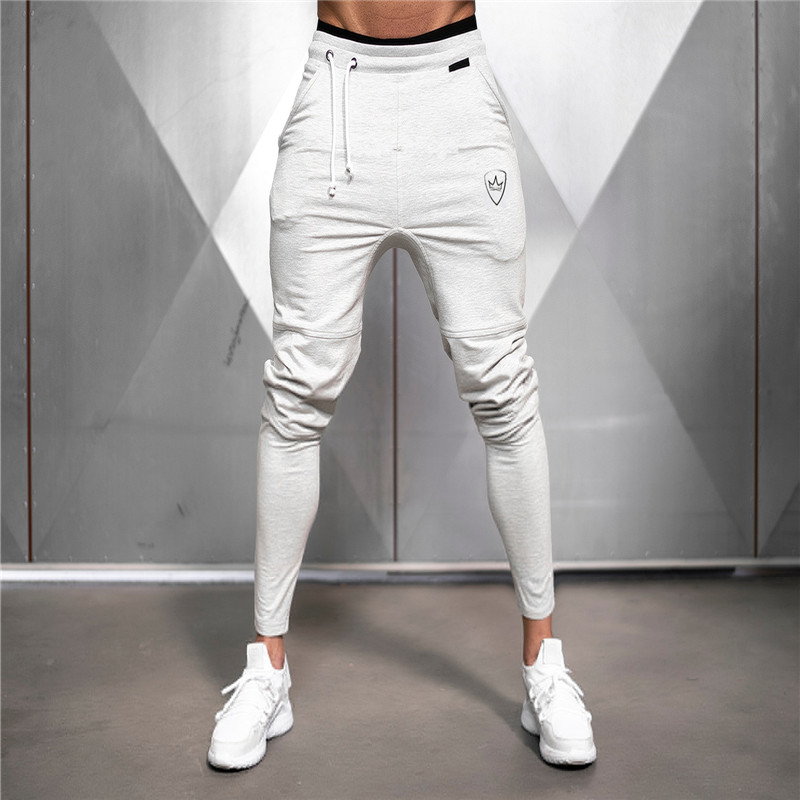 New Men's Hip Hop Sweatpants Fitness Joggers 2019 Autumn Male Solid High Street Hip Long Trousers Harem Pants Sweatpants
