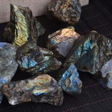 1pcs Raw Gemstone Ornament Polished Colorful Natural Moonstone Labradorite Stone Specimen Ornamental Stone Teaching Ore