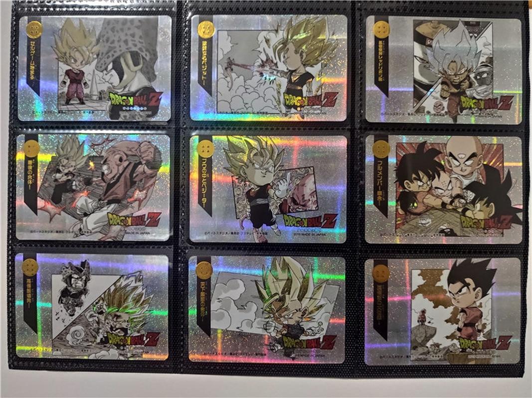 9pcs/set Dragon Ball Z Q Super Saiyan Goku Vegeta Game Action Toy Figures Commemorative Edition Collection Cards Free Shipping