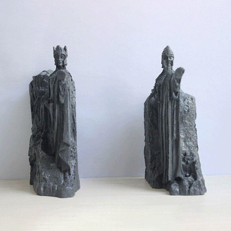 1 Set Resin Bookends Art Sculptures Book Stands Lightweight Durable Book Holders