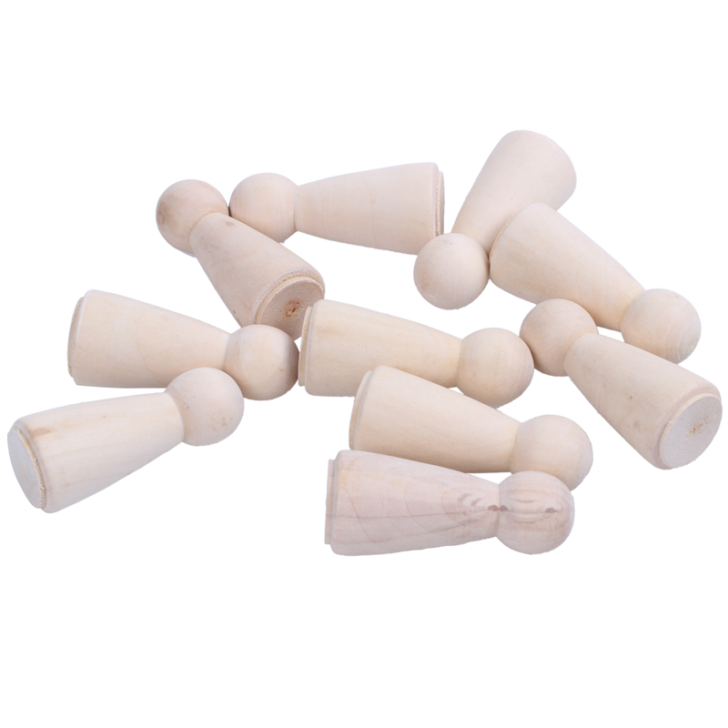 Promotion! Unfinished Wood Doll Bodies -Mom/Angel - 10 Pieces