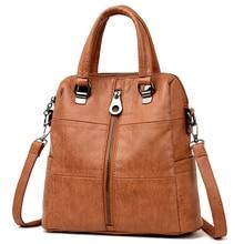 حقائب كتف نسائية جلدية فاخرة للنساء 2020 حقيبة السفر على ظهره Mochilas الحقائب المدرسية للمراهقات