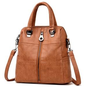 Image 1 - Luxury Women Leather Backpack Female Shoulder Bags For Women 2020 Travel Backpack Bagpack Mochilas School Bags For Teenage Girls